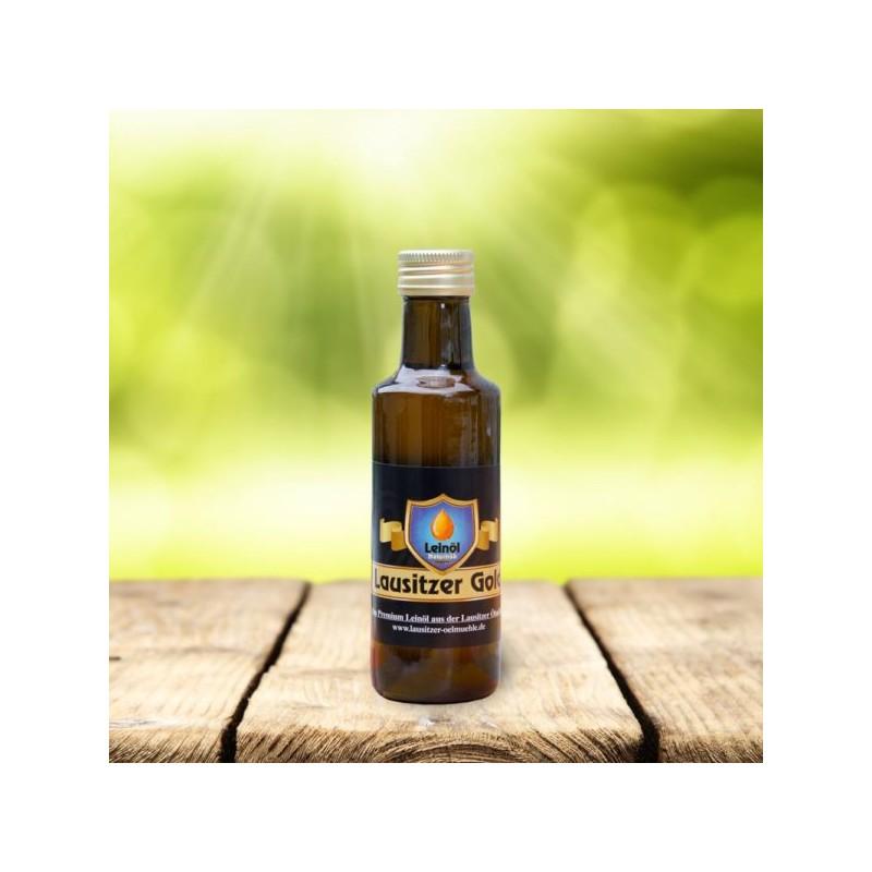 Lausitzer Gold 105 ml – das kaltgepresste, ungefilterte Premium-Leinöl – ohne Zusätze und 100% naturbelassen