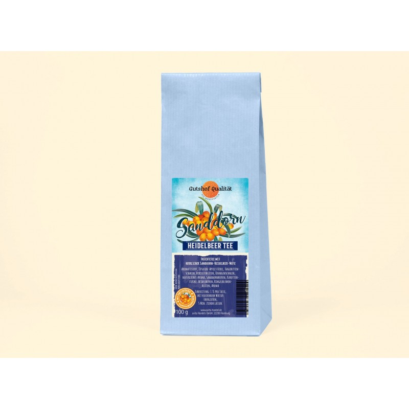 Früchtetee Sanddorn Heidelbeer 100g